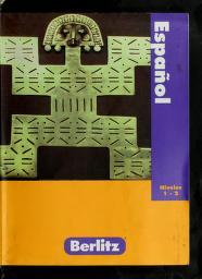 Cover of: Berlitz Espanol Niveles 1-2 |