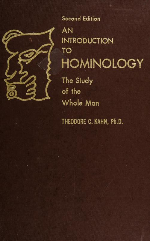 An introduction to hominology by Theodore Charles Kahn
